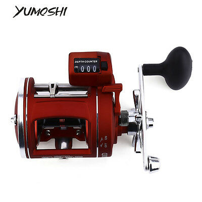YUMOSHI Left / Right hand 12 Bearings Fishing Reel with Electric Depth Counting