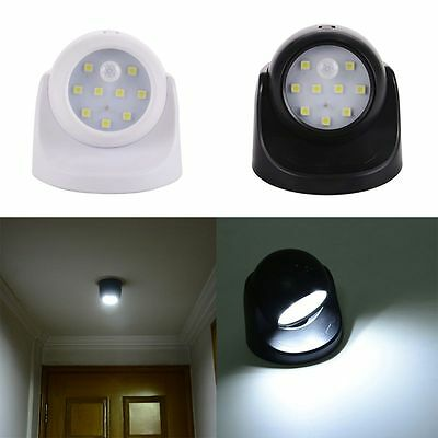 9LED Wall Light Lamp Wireless Light-operated Motion Sensor Battery Power Sconce