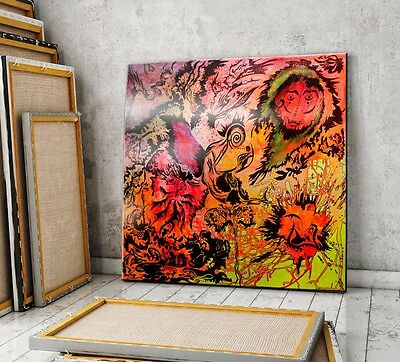 Large Original abstract painting Oil Big Canvas Modern Art Colorful Wall Decor