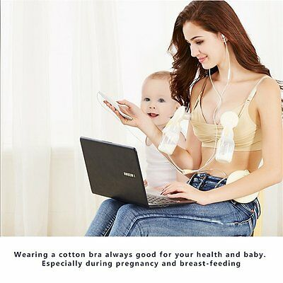 Nursing Hands Free Wireless Pumping Bra Straps with 3 Hook Extender LN