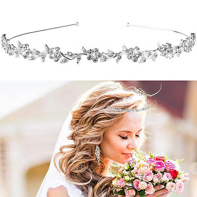 Bridal Princess Wedding Prom Crystal Rhinestone Tiara Crown Headband Headdress