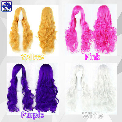 40 - 50cm Cosplay Costume Long Wavy Curly Hair Wig Women Girls Halloween JHWI642