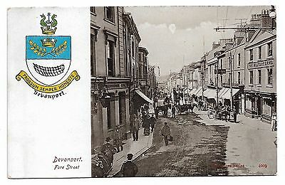 Real Photo postcard Devonport Fore Street Military Arms 1900s