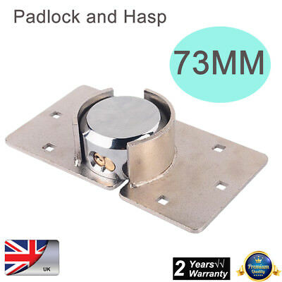 73Mm Heavy Duty Shackless Padlock And Hasp Set Lock Shed Security Round Lock Uk