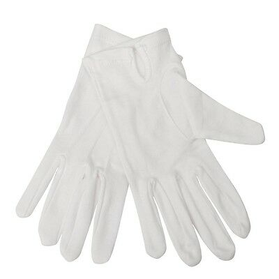 Cotton Silver Service Waiting Gloves - White