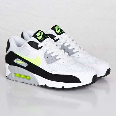 NIKE AIR MAX 90 ESSENTIAL 537384 118 White/Volt/Black/Wolf Grey Damen und Herren