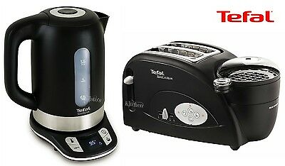 Kettle and Toaster Set Tefal Toast N Bean & Black Temperature Control Kettle New