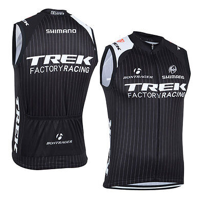 New Mens Road Bike Team Sleeveless Jersey Race Vest 3 Pockets Full Zipper Shirts