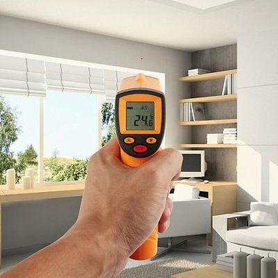 Temperature Gun Infrared Thermometer Display Engine Cook Motors Hot Cold Tester