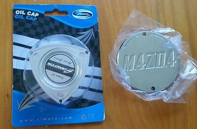Mazda Rx Rotary Oil Cap And Cas Cover Chrome 13B