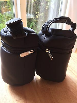 Tommee Tippee Closer to nature travel bottle Insulator Bags X2. New