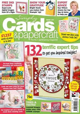 Simply Cards & Papercraft Magazine Issue 163 - Strawberry Corner Die & Stamps