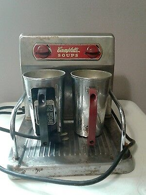 Vintage Campbell's Two soup cup warmer WORKS