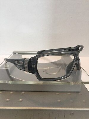 ++Oakley Offshoot Gray Smoke Frame Silver Icons Fast Free S/H++
