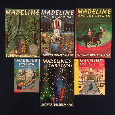 Lot of 6 Children's Picture Books by Ludwig Bemelmans: Madeline Series