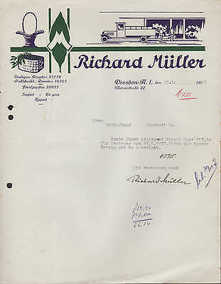 DRESDEN-A. 1, Brief 1937, Richard Müller