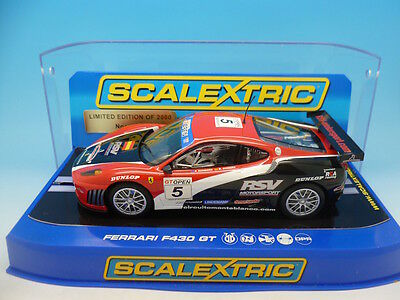 Scalextric C2938 Ferrari F430 GT No.5 Limited edition of 200, mint used