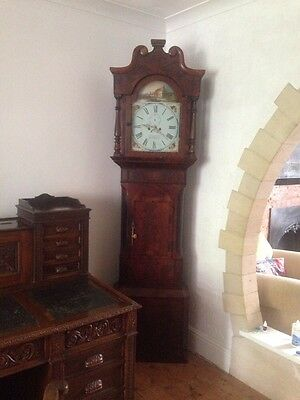 Victorian Large Grandfather Clock Birmingham Mahogany Case Antique