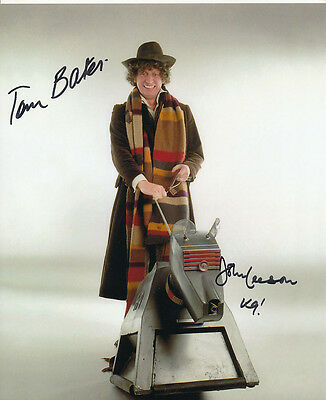 Tom Baker and John Leeson In Person Signed Photo - Doctor Who - AG205
