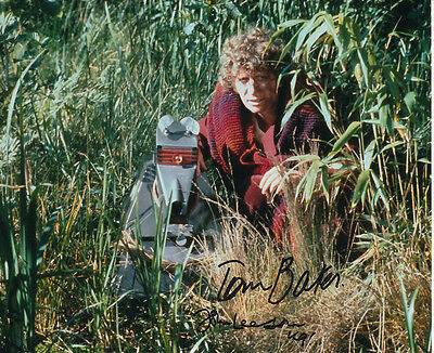 Tom Baker and John Leeson In Person Signed Photo - Doctor Who - AG208
