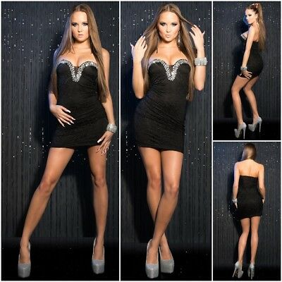 Sexy Short Lace Stones Ladies Women Evening Dresses Girl Party Summer Dress