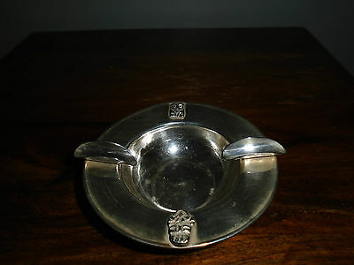 A Solid Silver (925) Art Deco Ash Tray with Incan Masks.