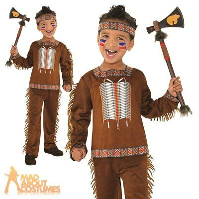 Child Native American Costume Boys Indian Fancy Dress Book Week Day Outfit