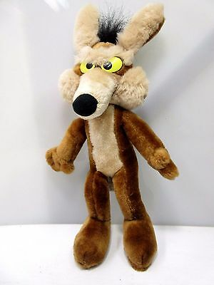 """Vintage 1971 WILE E COYOTE 13""""  Warner Bros Plush Doll by Mighty Star"""