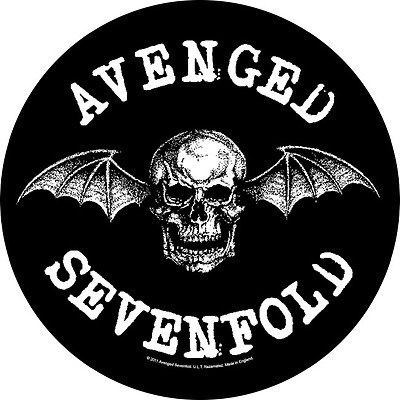 Avenged Sevenfold  circular Back Patch XLG free worldwide shipping