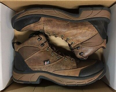 NWT Justin Boots Mens Stampede Lace Up Casual Work Boot Size 12 M Distressed Tan