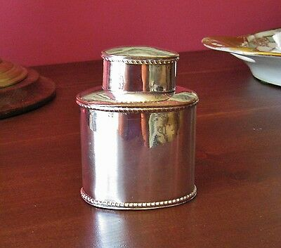 antique sheffield silver on copper tea caddy 19th century air tight weed stash