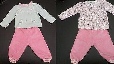 Baby Girl Sporty Outfit Trousers and Tops Bundle 3-6 months
