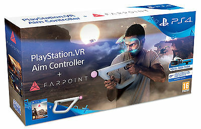 Farpoint + Playstation Vr Aim Controller Ps4 Nuovo