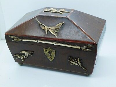 tea caddy type box with decoration....