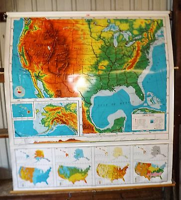 Nystrom Pull Down United States School Map