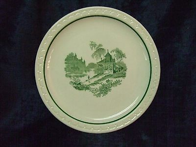 Syracuse China ceramic plate - green landscape on white plate