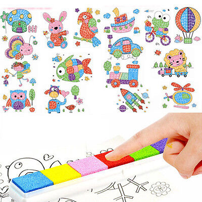8Pcs Kid Finger Painting Craft Set Children Fingerpaint Drawing Education ToyLWY