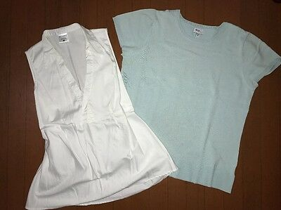 Lot of 2 Summer Maternity Clothes Tops Career Work Size Medium
