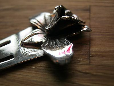 A Beautiful Antique Style Solid Silver Lilly / Flower Bookmark