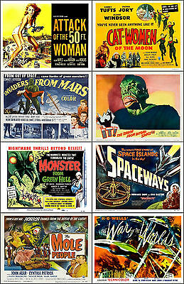 SPECIAL LOT Of 8 Individual SCI-FI 11x14 TITLE CARD And HS Prints Lot D