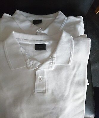 Next boys white school polo shirts age 12