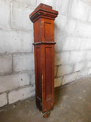 Antique Craftsman Style Square Newel Post - C. 1910 Fir Architectural Salvage