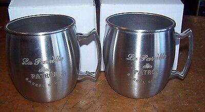 Set of 4 La Parrilla Patron Barrel Select Stainless Steel Drink Mug Bee