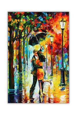 AT54378D Dance Under The Rain By Leonid Afremov Quality Poster Wall Prints
