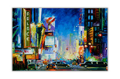 AT54378D Broadway New York By Leonid Afremov Wall Posters Abstract Art Pictures