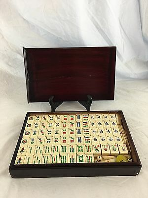 Complete Chinese Mah Jong Set, Circa 1930, Small Portable Case