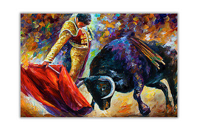 AT54378D Dangerous Opponent By Leonid Afremov Wall Poster Prints Home Decor