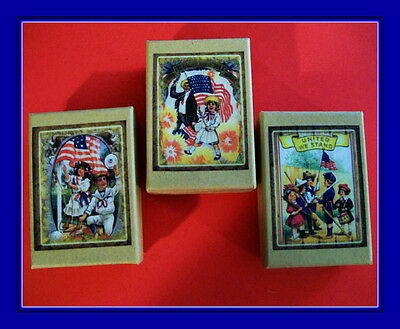Patriotic Children 4Th Of July Vintage  Postcard Gift Boxes - Great For Gifts