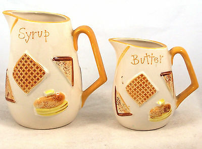 Napcoware Syrup and Butter Pitchers Set