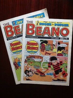 Beano Comics X2 From February & March 1989